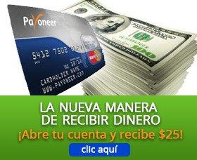 Reciba su Tarjeta Pre Pago Payonner MasterCard