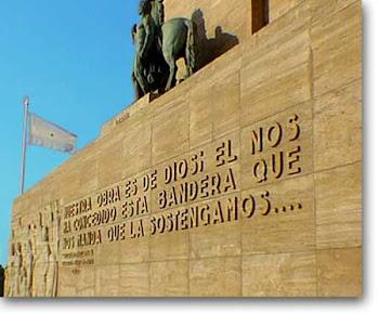 Vista del Monumento a la Bandera en Rosario(Santa Fe)