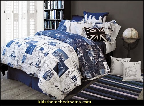 Decorating theme bedrooms maries manor travel bedding for World themed bedding