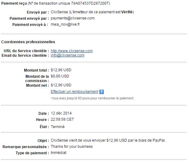 Clixsense le site qui arrondie vos fins de mois - Site paiement differe 3 mois ...