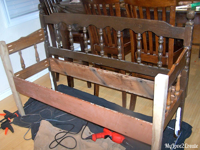 My Love 2 Create: Headboard Bench, or loving referred to as the