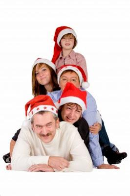 familia inglesa celebrando las navidades