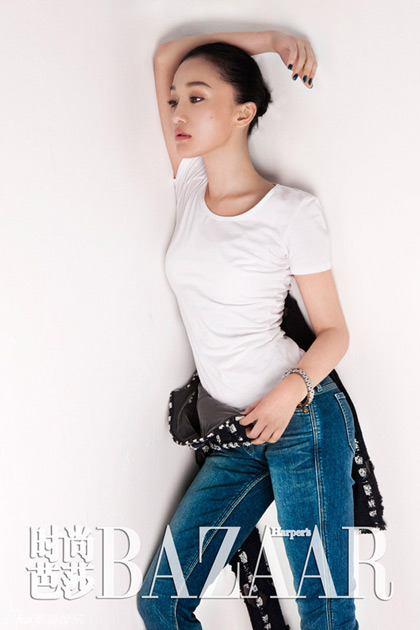 Zhou Xun sexy in jean faction