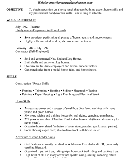 resume templates private duty caregiver. caretaker resume samples ...