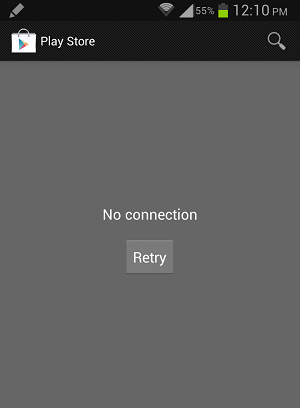 Cara Mengatasi No Connection / Tidak Ada Sambungan Pada Google Play Store