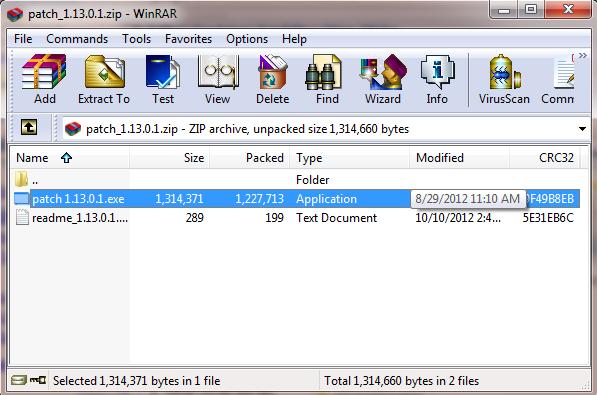 Langakah awal, anda jalankan file Patch nya dengan membuka file rar ...