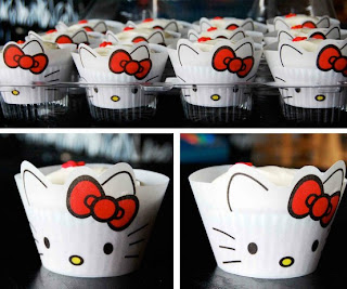 Hello Kitty face cute cupcake holder