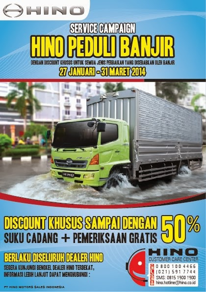 Service Campaign : HIno Peduli Banjir