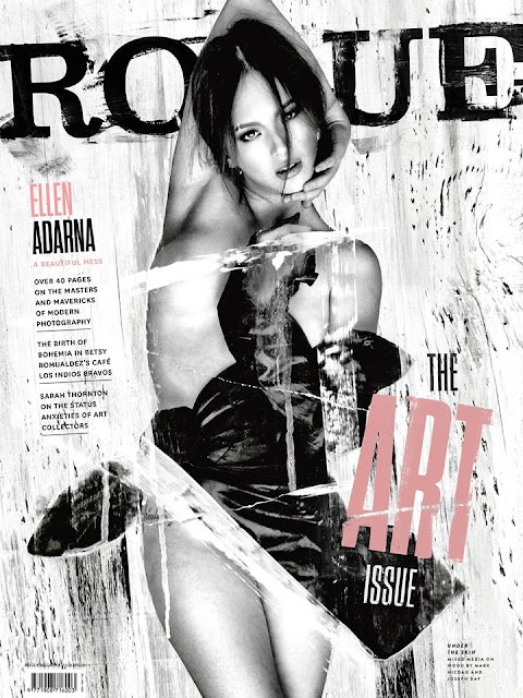 Ellen Adarna on the cover of ROGUE magazine August 2015