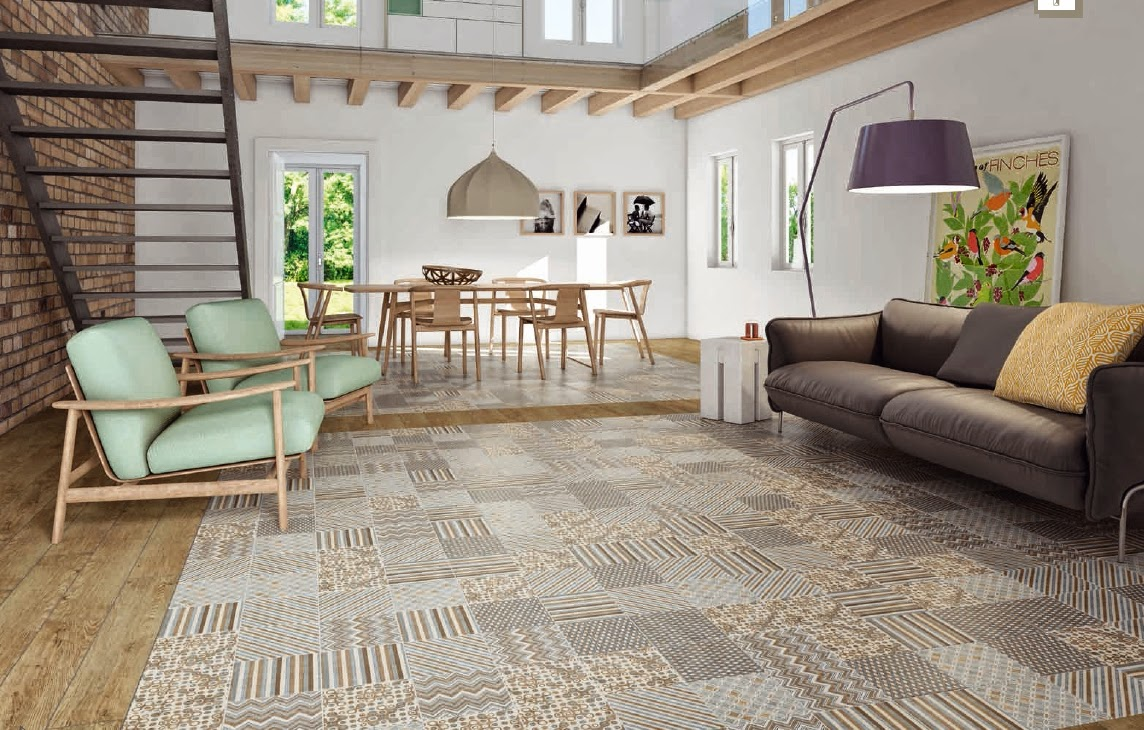 Blog as de carreaux le carrelage imitation de ciment est l 39 honneur - Carrelage imitation ciment ...