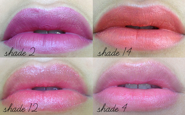 mua lipstick swatches shade