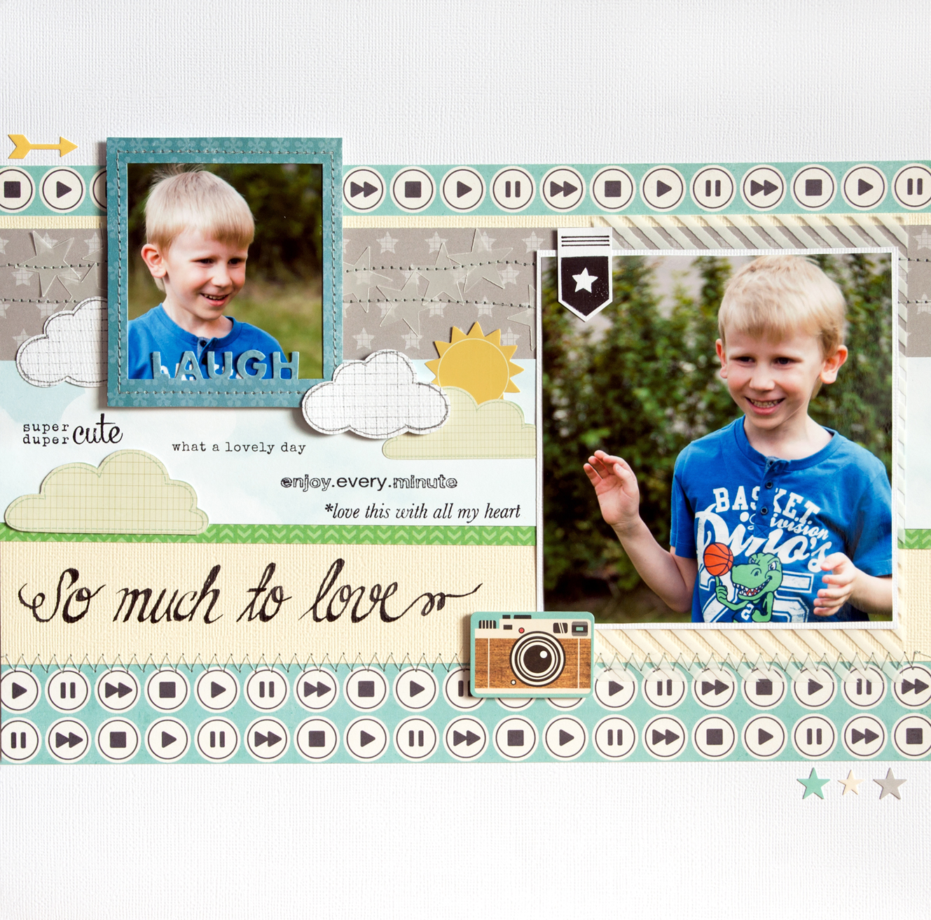 Scrapbooking layout using Creative Scrappers sketch #274: So much to love