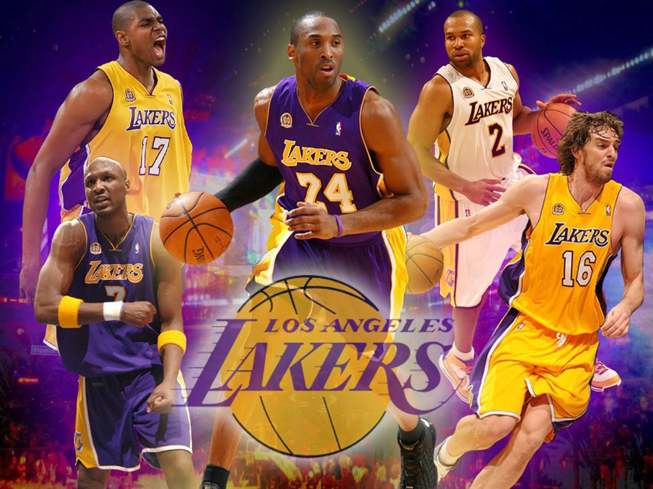 International Wallpaper: Los Angeles Lakers United State basketball Players
