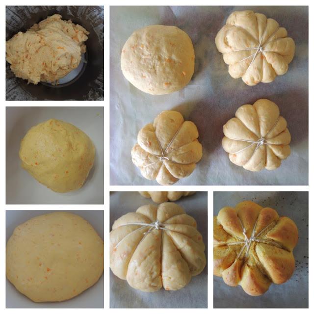 zucchette di pane con zucca e carote col bimby