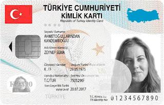 Çipli biyometrik e-kimlik kartı