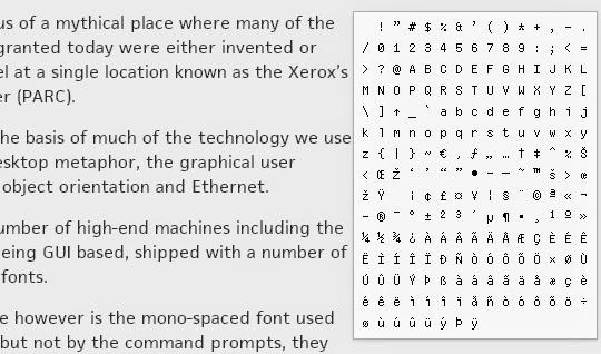 The Xerox Alto Mono-Spaced Font Rises Again