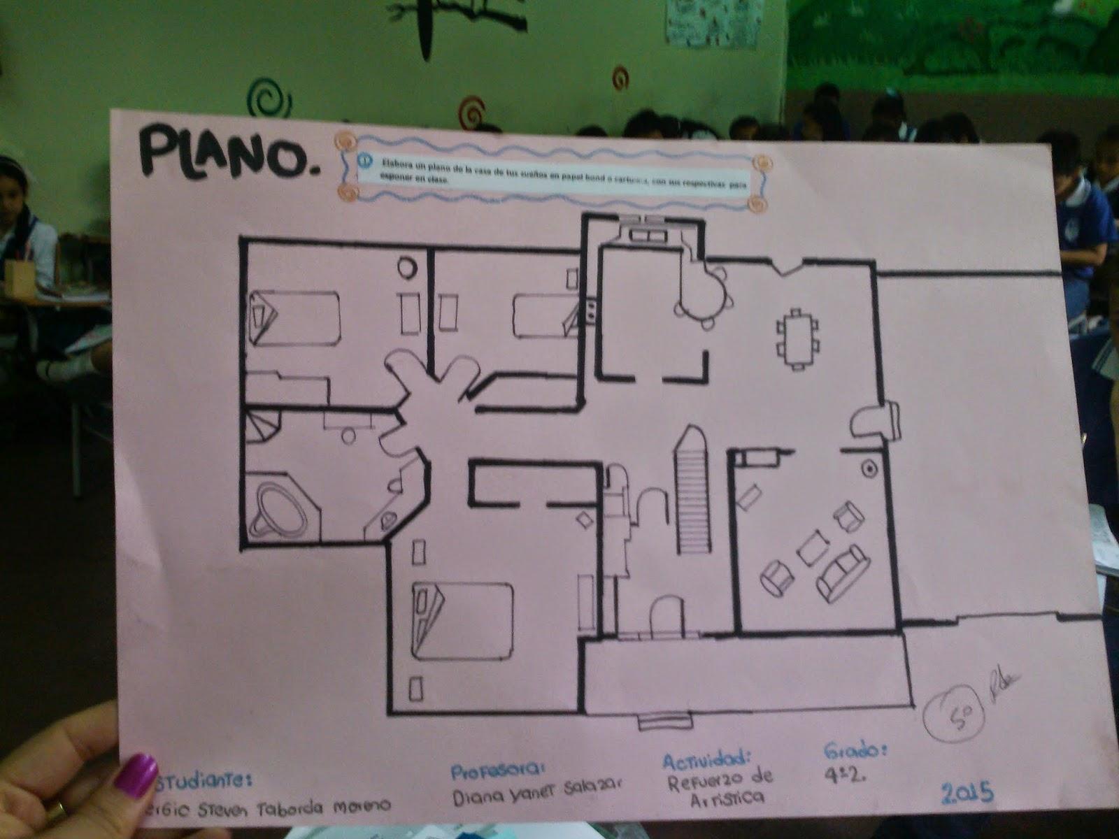 Grado 5 los planos de la casa mis sue os for Las medidas de una casa libro