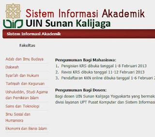 Sistem Informasi Akademik UIN Suka