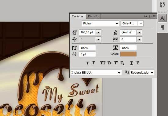 Texto con Estilo de Chocolate y Textura de Galleta 51 by Saltaalavista Blog