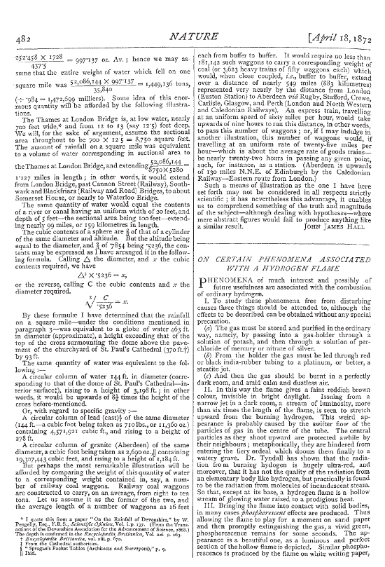 Paper in Nature from 1872