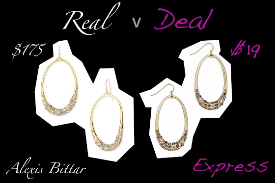 Real v Deal Alexis Bittar verses Express