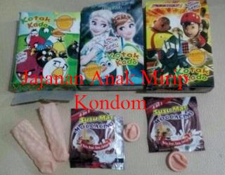 Jajanan Anak Kemasan Wadah Mirip Kondom Beredar