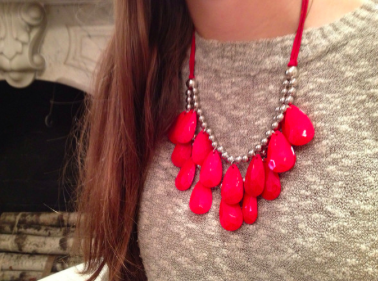 Coral | Necklaces for Charity | blog.sassyshortcake.com