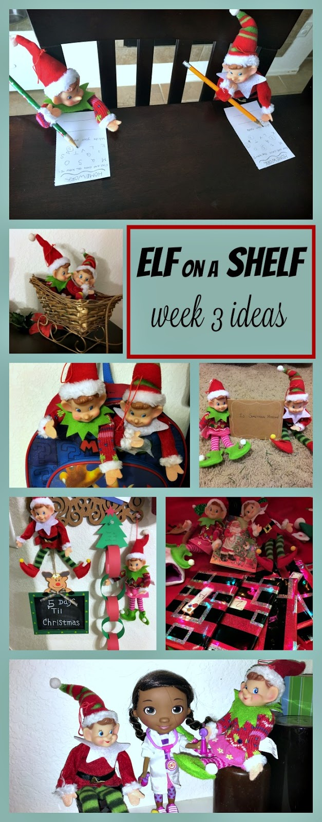 Elf on the shelf ideas, elf on the shelf naughty list, elfs on the shelf steal the tree, elf on the shelf easy ideas for kids, elf on the shelf