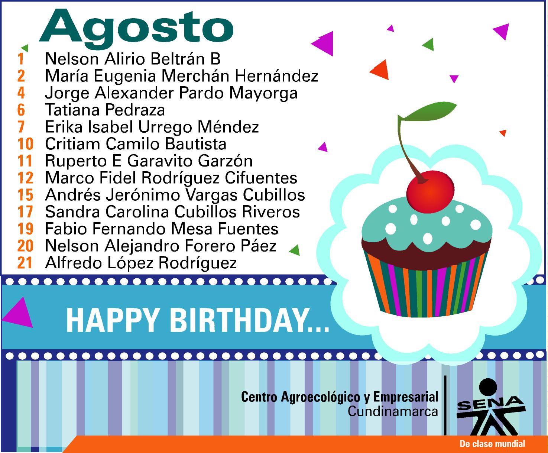 Blog Centro Agroecológico y Empresarial: Feliz Cumpleaños en Agosto...