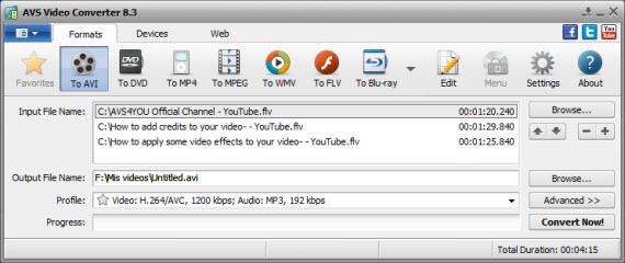 Convierte todos tus videos con AVS Video Converter