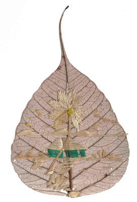 Pipal leaf art