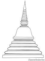 Mewarnai Gambar Stupa Pada Candi Umat Budha