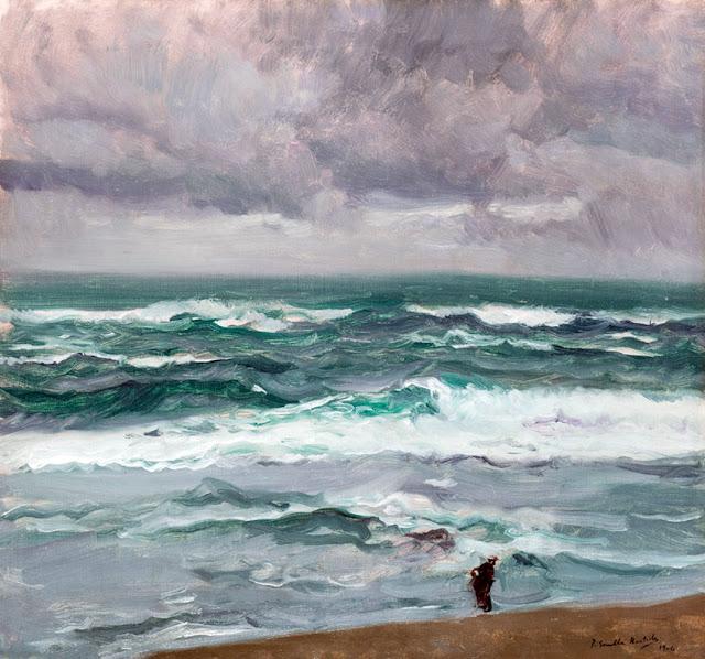 Mar embravecido, Joaquín Sorolla Bastida, Paisajes de Joaquín sorolla, Pintor español, Joaquín sorolla