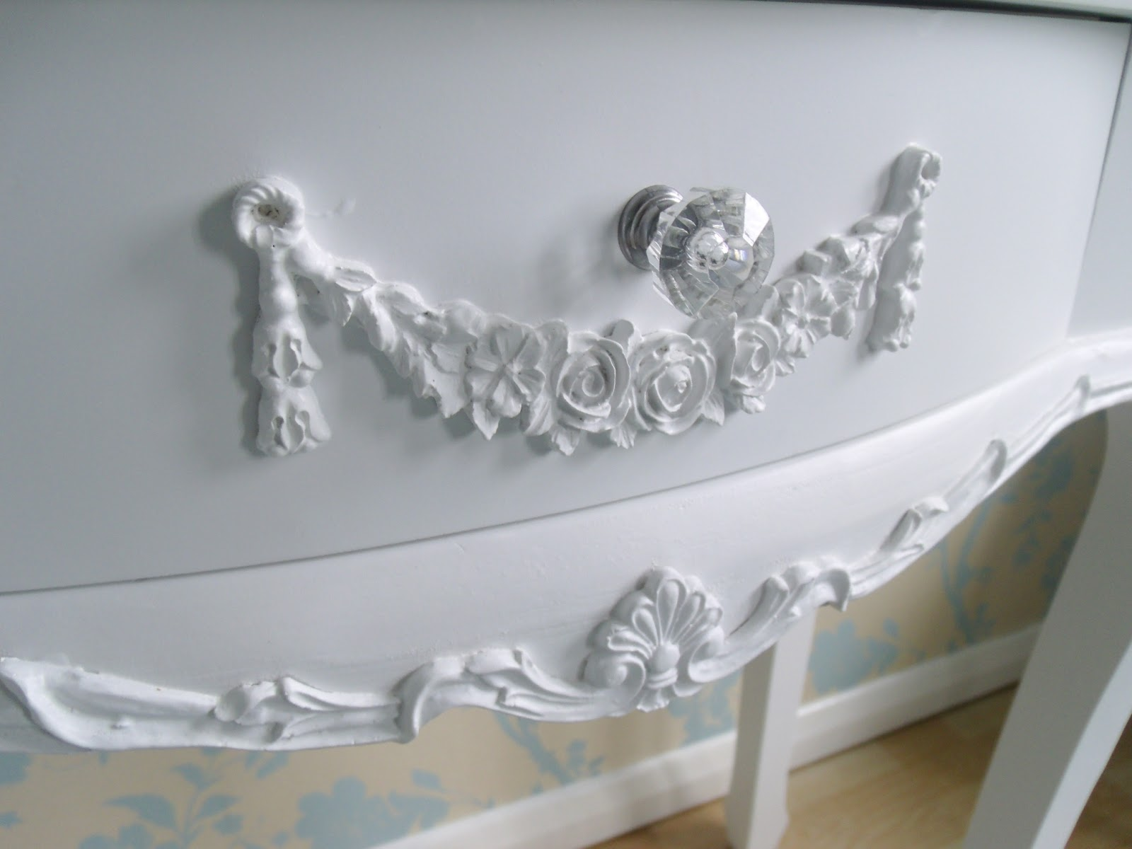 Its Finished My New Dressing Room Victorias Vintage Blog - Toulouse bedroom furniture white