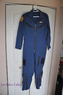 flight suit cake