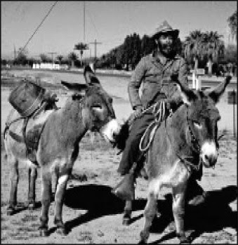Prospector 'Superstition Joe' (Cecil Vernon, circa 1960) is part of Apache Junction's legendary past.