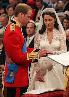 During the 60-minute ceremony, William slipped a wedding ring made of Welsh gold on his bride's finger, but Kate did not return the favor. By mutual agreement, William opted out of wearing a wedding ring.