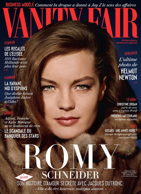 Magazine Cover : Romy Schneider Magazine Photoshoot Pics on Vanity Fair Magazine France February 2014 Issue
