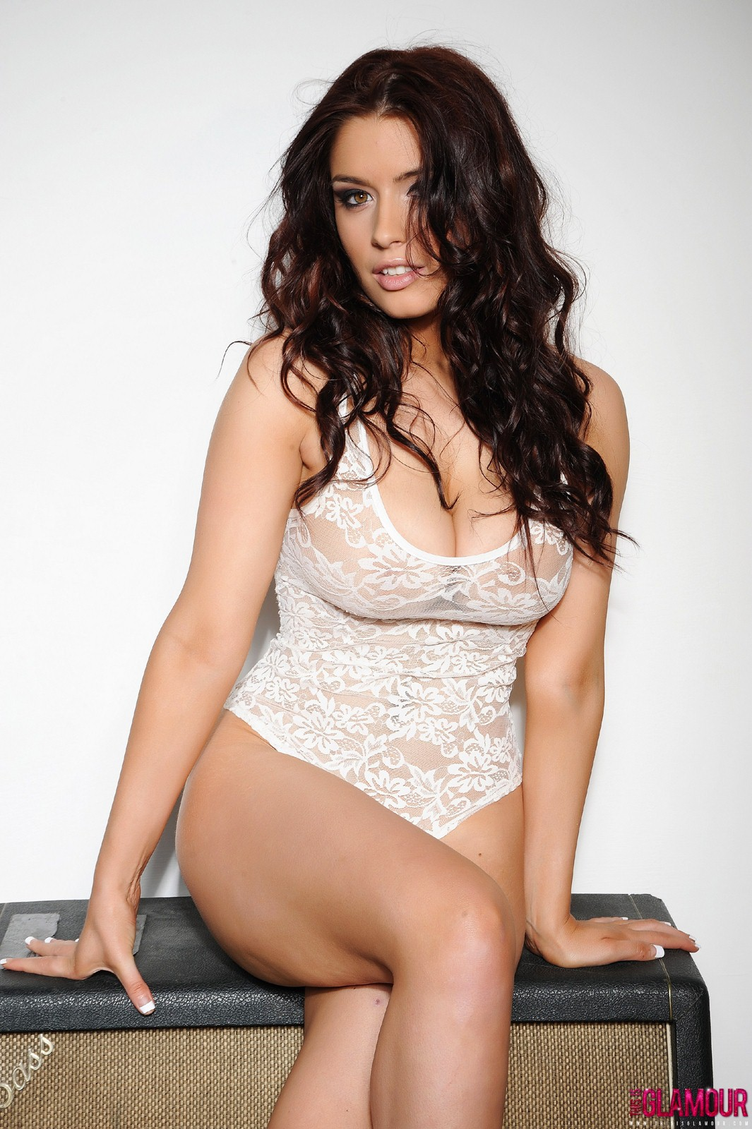 Kelly Andrews Topless In Lacy Lingerie