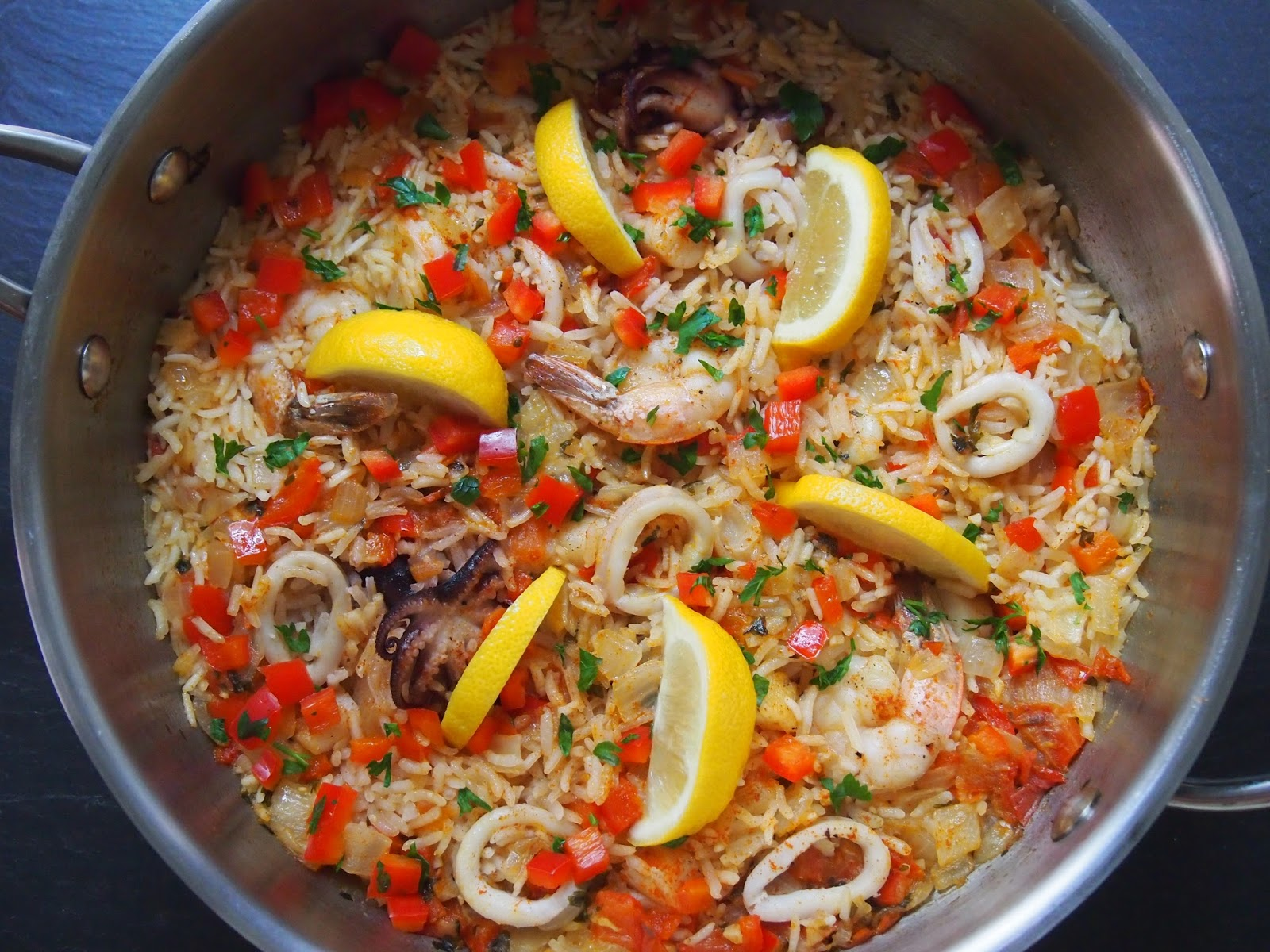Spicy Turkey Paella Recipe — Dishmaps