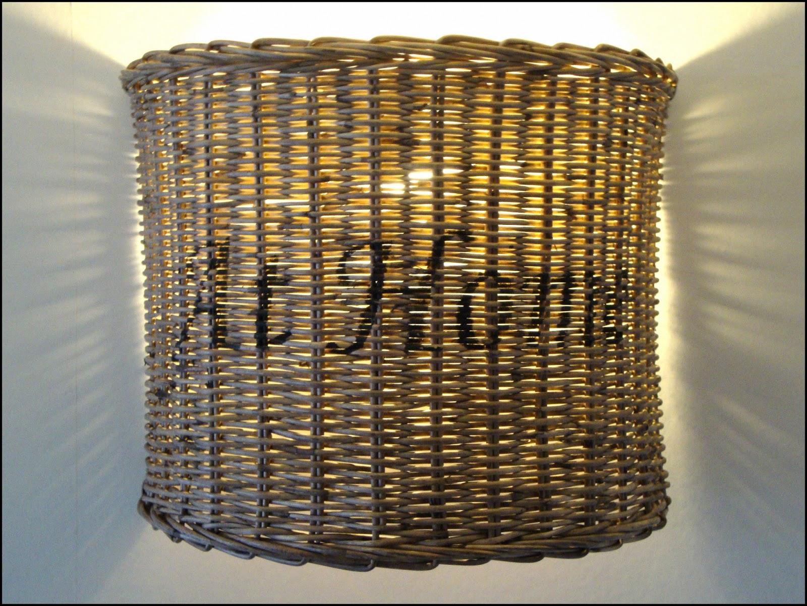 Wandverlichting Slaapkamer : Rieten wandlampje half rond