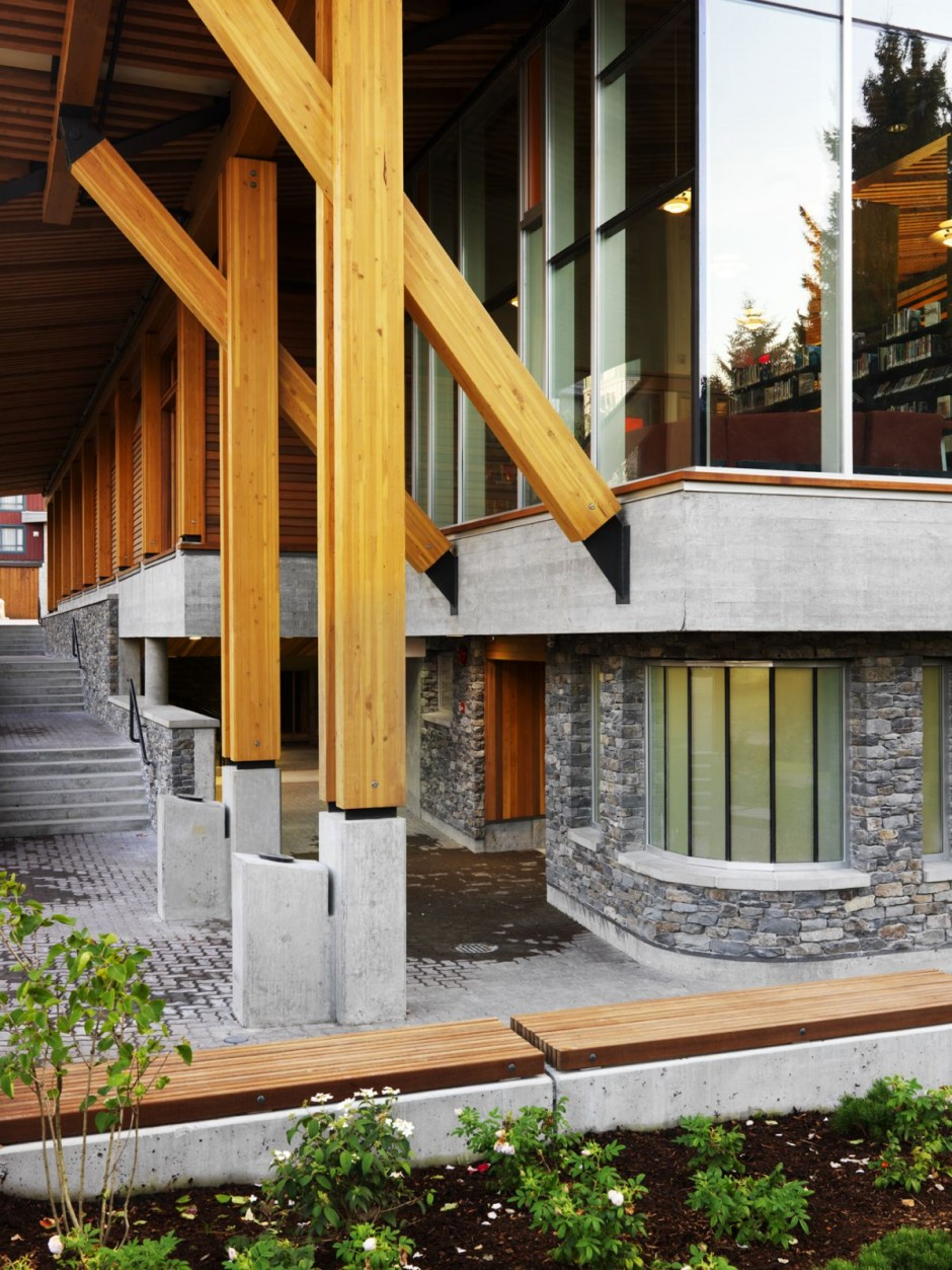 Whistler public library by hughes condon marler for Architectural beams