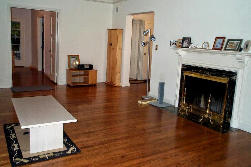View of lounge room and fireplace