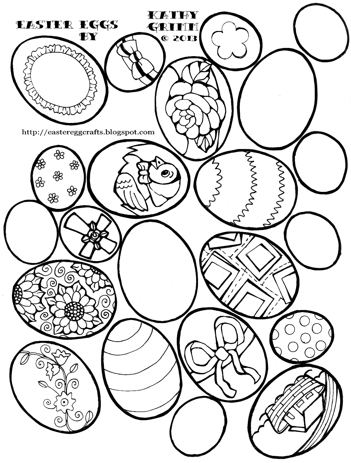 Easter Egg Coloring Pages Vintage Eggs Crafts