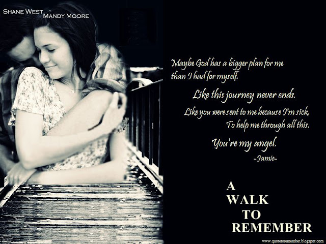 a walk to remember 3 While it's true a walk to remember wasn't exactly good, the 2002 film about a  young woman with leukemia (mandy moore) and her whirlwind.