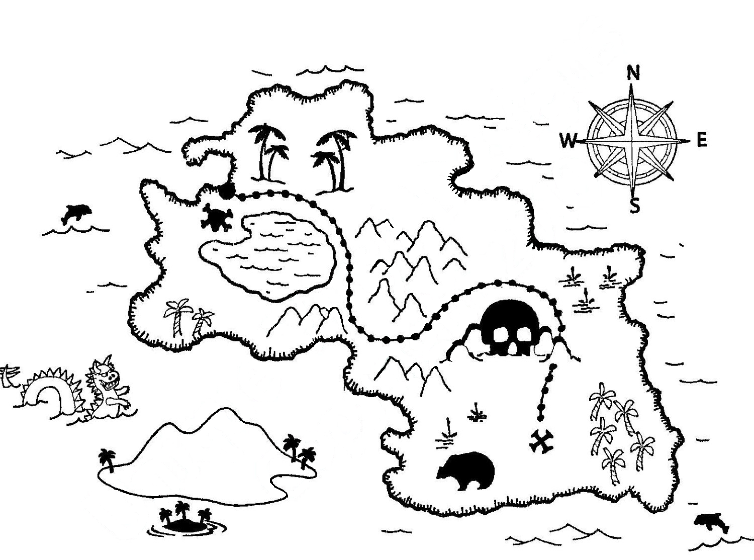Free Coloring Pages Of World Outline Map