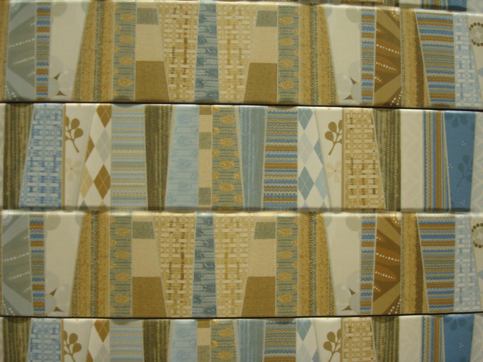 é a faixa Patchwork da Portinari já vem pronto no formato 15x90 #614F22 1600x1200 Banheiro Com Azulejo Patchwork