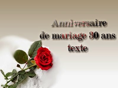 image anniversaire de mariage 30 ans. Black Bedroom Furniture Sets. Home Design Ideas