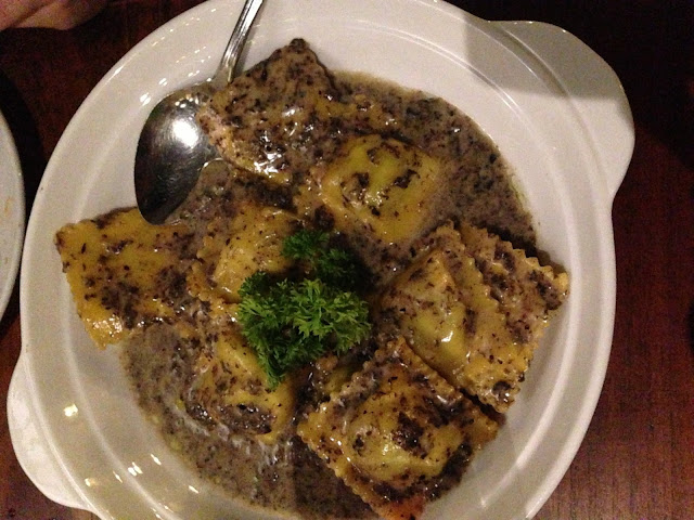 Veal Ravioli in Truffle Cream Sauce