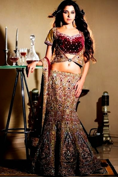 Bibi Jan 2013 Dresses Design Fashion Neetu Lulla Designer Lehnga